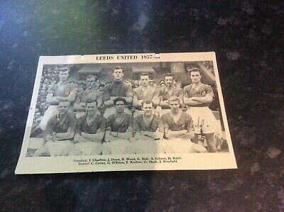 £19.99 • Buy Signed Leeds United Team Picture 1957-58
