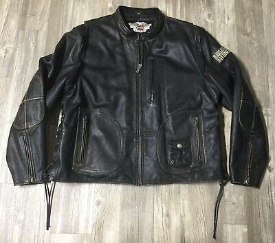 $ CDN225.34 • Buy VTG 90's Harley Davidson Brown Leather 2 In 1 Convertable 3XL Panhead Jacket GUC