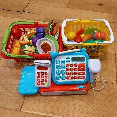 £10 • Buy ELC Play Till And Plastic Play Food With Supermarket Baskets