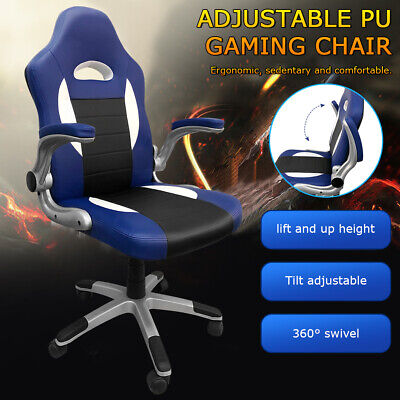 AU89.99 • Buy Adjustable Gaming Office Chair Racing Game Executive Computer PU Leather Seat AU