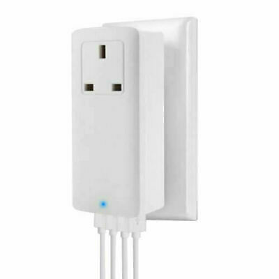 £9.95 • Buy 4-Port USB UK Wall Plug Fast Charger Mains AC-Pass For IPhone IPad Samsung Sony
