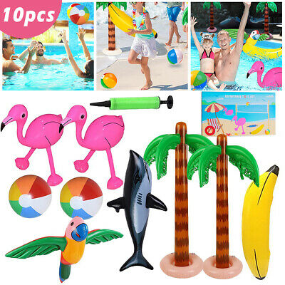 £16.99 • Buy Inflatable Toys Set Kids Hen Party Swim Props Blow Up Instruments Animals Beach