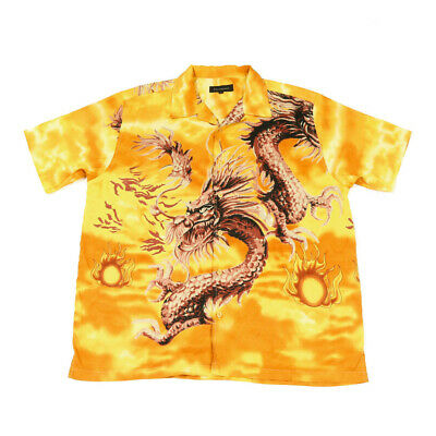 £25.59 • Buy Vintage Chinese Dragon Shirt | XL | Retro Festival Party Button 90s Y2K Graphic