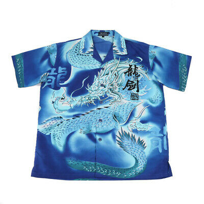 £25.59 • Buy Vintage Chinese Dragon Shirt | Large | Retro Festival Party 90s Y2K Graphic