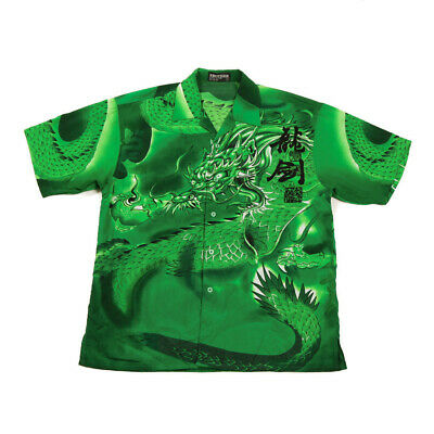 £26.99 • Buy Vintage Graphic Chinese Dragon Shirt   Small   Retro Festival Button Y2K 90s
