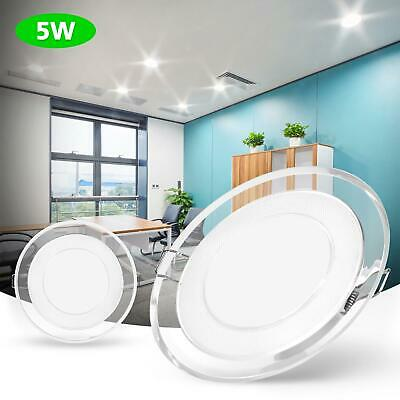 £9.34 • Buy 5W LED Panel Light Recessed Downlight Acrylic 3 Colour Change Ceiling Down Light