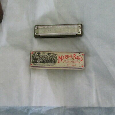 $29.95 • Buy M. Hohner Marine Band A440 G Key Harmonica Used With Box Lid