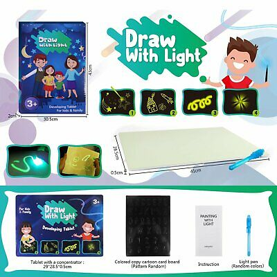 £11.99 • Buy Kids Magic Drawing Board Light Up LED Writing Painting Pad Educational Toy Gift