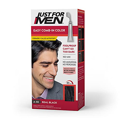 £7.54 • Buy Just For Men Easy Comb-In Color Formerly Autostop, Gray Hair Coloring For Men No