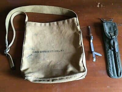 $10.50 • Buy U S Army WW 2 M 1 Ammo Carrier,  Rifle Cleaning Kit And Tool  Lot