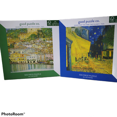 $ CDN16.35 • Buy 2 New Puzzles Good Puzzle Company Van Gogh And Klimt Each Is 500 Pieces