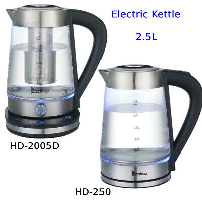 £12.99 • Buy ZOKOP 2.5L Electric Kettle Fast Boil Blue LED Illuminated Glass Kettle