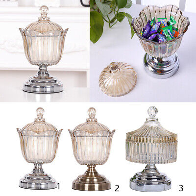 £26.16 • Buy Glass Ribbed Apothecary Jars Decorative Weddings Candy Buffet Container