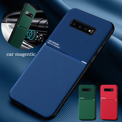 AU7.99 • Buy Matte Leather Case For Samsung Galaxy S10 PLUS S9 S8 Plus + Case Magnetic Cover