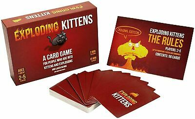 AU34 • Buy BRAND NEW-Exploding Kittens Original Card Game -Family Fun, FREE SHIPPING
