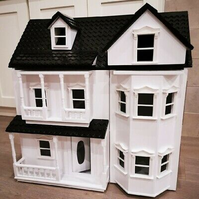 £98.99 • Buy HILIROOM Wooden Dolls House Cottage, Victorian Kids Gift Doll House   UK STOCK