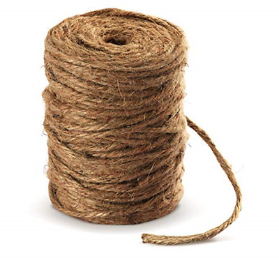 £9.70 • Buy Absofine 100M Garden Cord Jute Twine String 4mm Thick Strong Natural Jute Rope