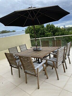 AU300 • Buy Outdoor Timber Furniture Setting Used