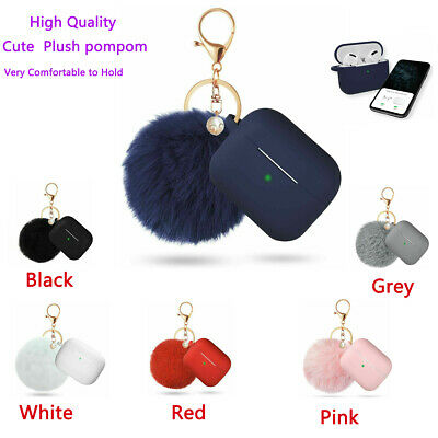 $ CDN7.54 • Buy  Airpods Pro Case With Anti-lost Strap Fur Ball Keychain LED Visible Of 6 Colour