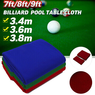 £21.56 • Buy Professional Snooker Billiard Pool Table Cloth Sports Game 7 8 9ft Cover UK