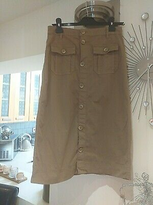 £3.99 • Buy Marks And Spencer Chino Camel Midi Skirt Size 8