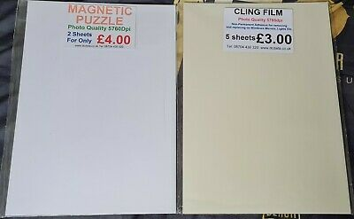 £0.99 • Buy Specialized Photo Quality Printing Paper - Magnetic Puzzle & Cling Film Paper