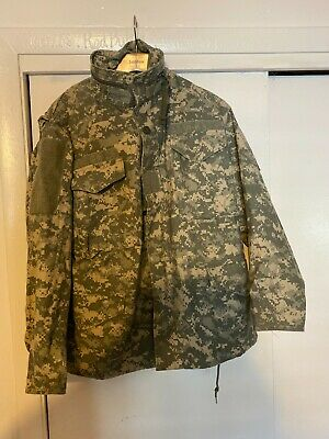 $39 • Buy Us Army Acu Digital Camo M-65 Cold Weather Field Jacket Small Short Parka Nice