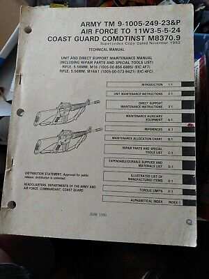 $8.90 • Buy 1991 Army, M16 M16A1 Rifle Parts Special Tools Service Repair Maintenance Manual