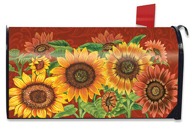 $16.99 • Buy Colorful Sunflowers Fall Magnetic Mailbox Cover Welcome Autumn Standard