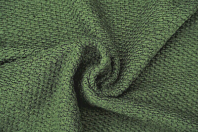 £7.50 • Buy Dark Olive Green Boiled Wool Chunky Luxury Seeded Soft Knit Made In Italy B78