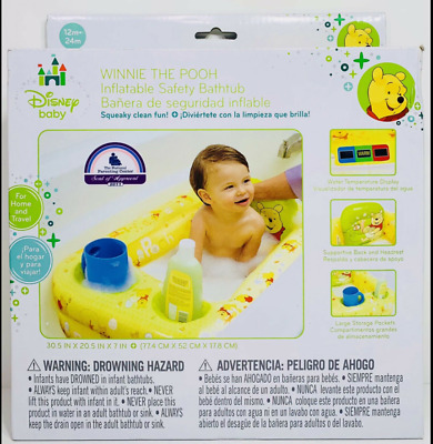 £15.91 • Buy Disney Winnie The Pooh Inflatable Safety Bathtub Baby Toddler Portable Pool NEW
