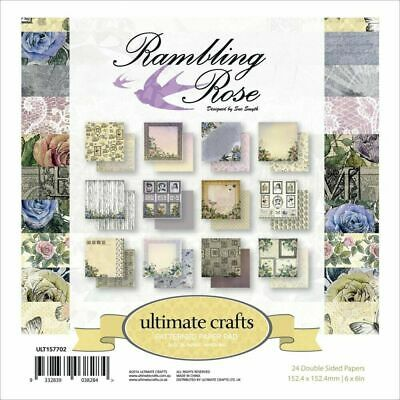 £0.99 • Buy Rambling Rose Patterned Craft Papers - Florals & More