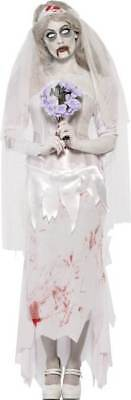 £38.98 • Buy Ladies Till Death Do Us Part Zombie Bride Costume Halloween Outfit