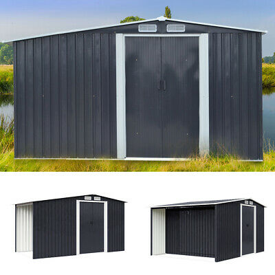 £399.95 • Buy Anthracite Metal Steel Garden Shed Outdoor Firewood Wood Log Storage Large Sizes