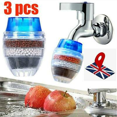 £6.50 • Buy 3X Coconut Faucet Kitchen Home Cartridge Tap Water Clean Purifier Filter Carbon
