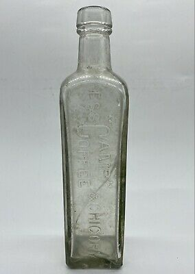 £11.95 • Buy Antique Vintage Glass Bottle Camp Coffee & Chicory Patterson's Glasgow