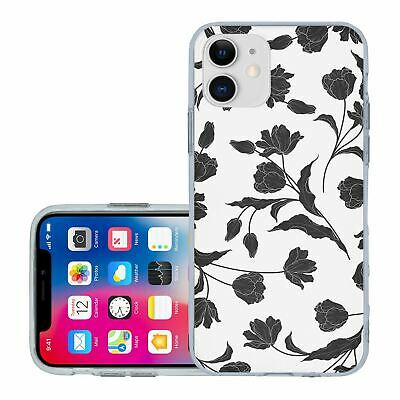 £6.95 • Buy For IPhone 11 Silicone Case Cover Flowers Floral Gothic Print (S8884)