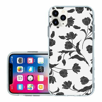 £6.95 • Buy For IPhone 11 PRO Silicone Case Cover Flowers Floral Gothic Print (S8884)
