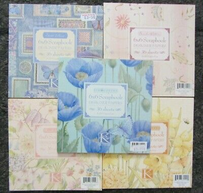 £8 • Buy K & Company Scrap Book Design Papers X5 Books-Mixed Designs-Crafting