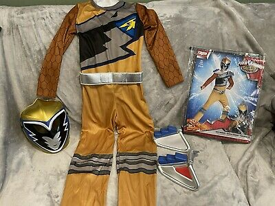 £13.60 • Buy GOLD POWER RANGERS DINO CHARGE HALLOWEEN DRESS UP COSTUME SIZE Small 4-6 4 Piece