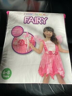 £4 • Buy Childrens New In Packet Fancy Dress Up Costume - Pink Fairy Princess - Age 6-8