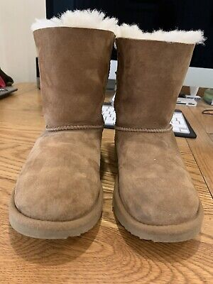£9.50 • Buy 1p Auction - No Reserve!! UGG Bailey Bow Mini Boots Size 2 Excellent Condition!