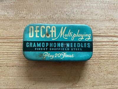 £12 • Buy DECCA Multi Playing Gramophone Needles Tin With Contents