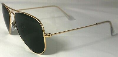 £60 • Buy Ray-Ban RB3044 - Aviator Gold With Green Classic Lens - RB3044 L0207 Small 52m