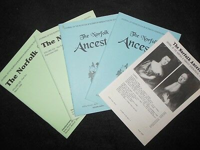 £9.99 • Buy The Norfolk Ancestor; Local History Journal (5 Issues) Genealogy, Family, Anglia
