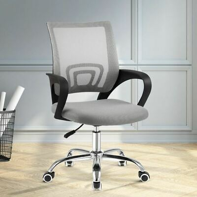 AU104.95 • Buy Gaming Office Chair Mid Back Mesh Design Height Adjustable Stylish Chrome Base