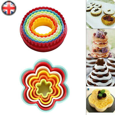 £3.79 • Buy Cookie Scone Cutters Edge Crinkle Round Cake Sugarcraft Pastry Bake Set 6 Pack