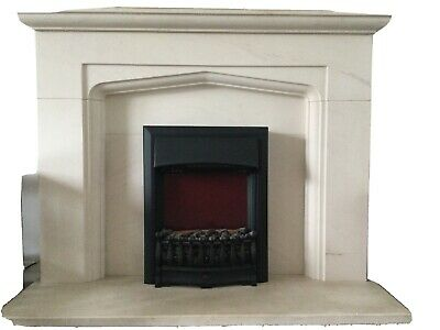 £6.40 • Buy Sandstone Fire Surround Hearth And Electric Fire