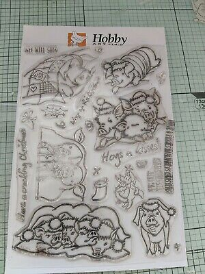 £5.50 • Buy Hobby Art A5 Clear Stamp Set - Pigs In Blankets - CS212D - Sharon's Collection