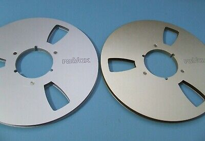 £30 • Buy Genuine Revox 10.5 Inch Empty Reels - 2 Off - Gold And Silver Anodised